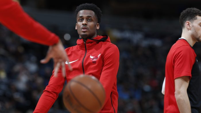 Chicago Bulls guard Antonio Blakeney (9), r m