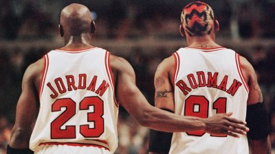 In this 03 May 1998 file photo Chicago Bulls playe