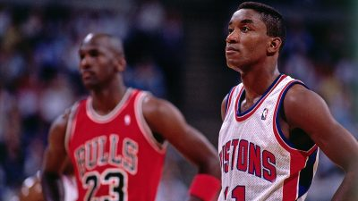 Isiah Thomas and Michael Jordan Portrait