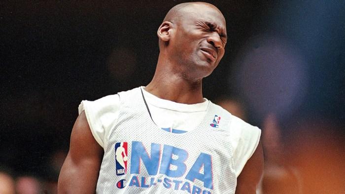 Michael Jordan blink