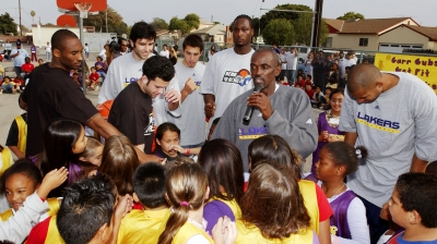 "Los Angeles Lakers ""NBA Cares"""