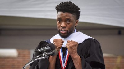 Howard University holds its' commencement ceremonies with famous alum Chadwick Boseman as guest speaker in Washington, DC.