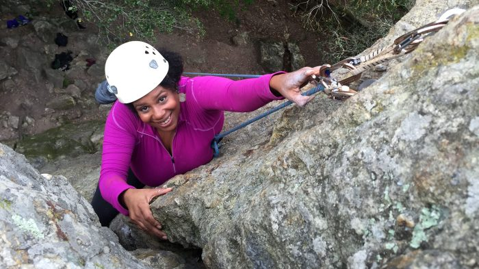 Rue Mapp rock climbingcredit:  courtesy Rue Mapp