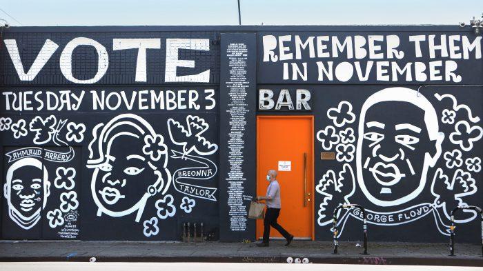 """""""Vote"""" Murals Spring Up Around Los Angeles"""