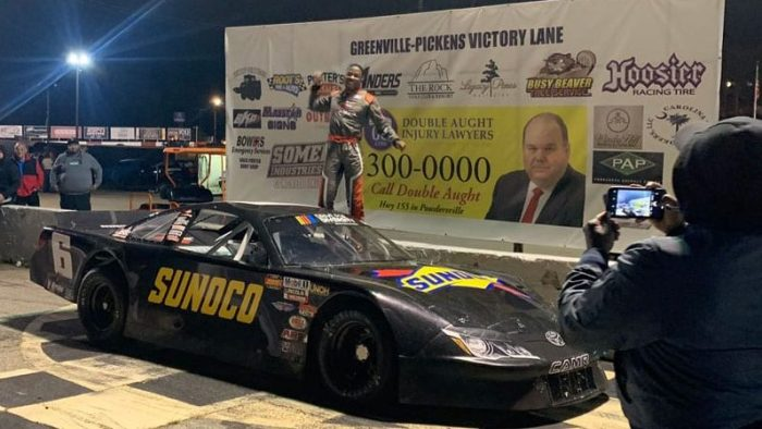 Rajah Caruth's NASCAR career is in the fast lane