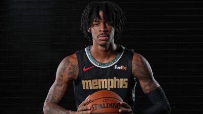 Ja Morant Debuts Memphis Grizzlies City Edition Issac Hayes Uniforms