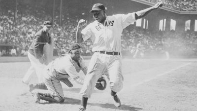 Josh Gibson Being Tagged Out at Home Plate