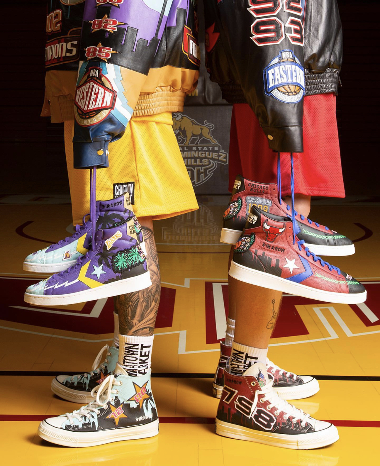 Converse reimagines Kobe and MJ's iconic title jackets as sneakers
