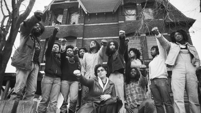 MOVE Members Gather in Front of Their House