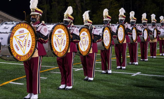 The Bethune-Cookman Marching Wildcats band