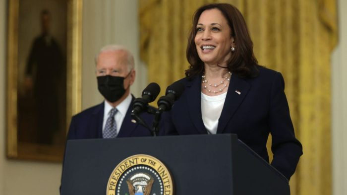 President Biden And Vice President Harris Deliver Remarks On Senate Passage Of The Infrastructure Investment and Jobs Act