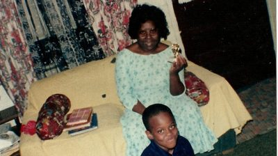 LeVelle Moton and his grandmother